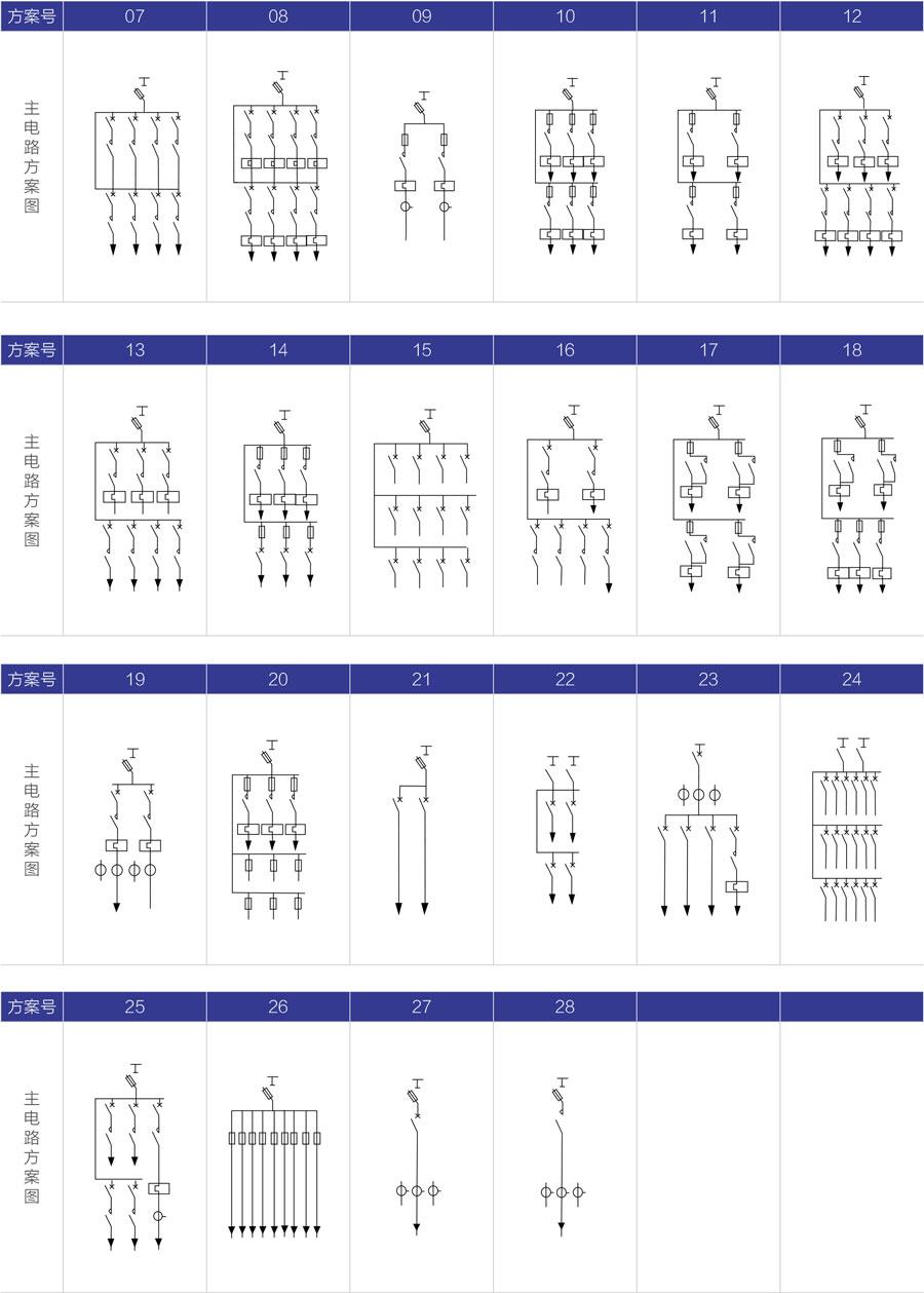 XL-21動力配電柜主電路方案圖