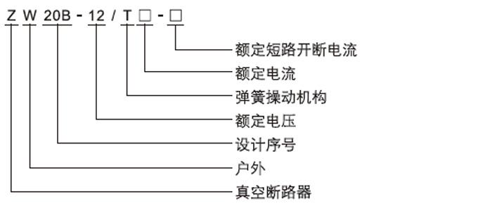 ZW20-12户外高压交流分界真空断路器型号含义