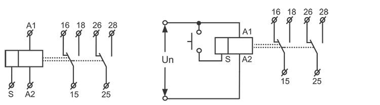 双延时时间继电器接线图