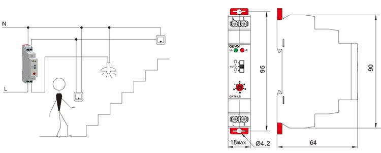 多功能型时间继电器外形安装及尺寸