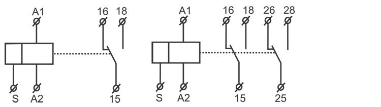 循環延時型時間繼電器接線圖