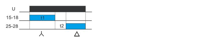 星三角启动型时间继电器功能图