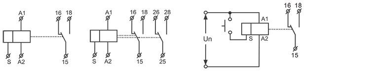 單功能型時間繼電器接線圖