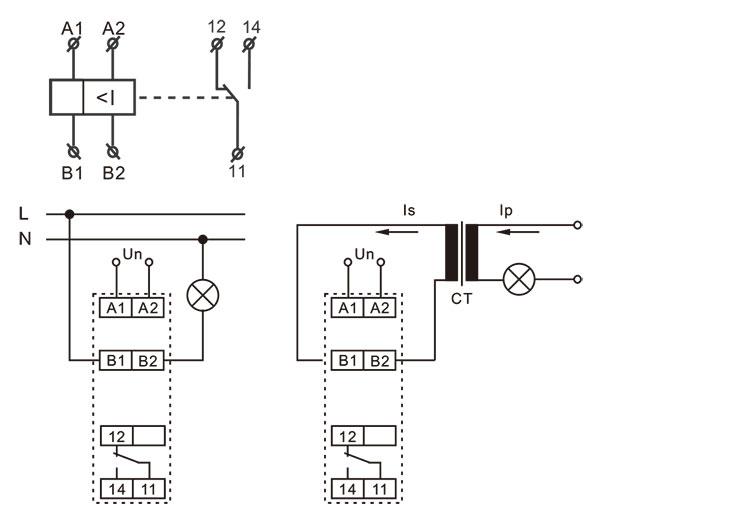 電流監控繼電器接線圖