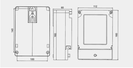DDS2057係列單相電子式電能表外形及安裝尺寸