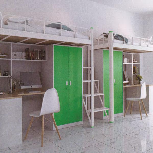 二連2人位中梯組合公寓床木柜ET-ZM2203