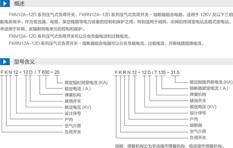FKN12-12D/T630-20係列高壓壓氣式負荷開關
