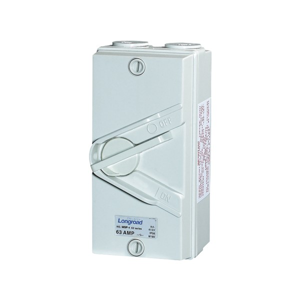 - Weather Protected Isolating Switches