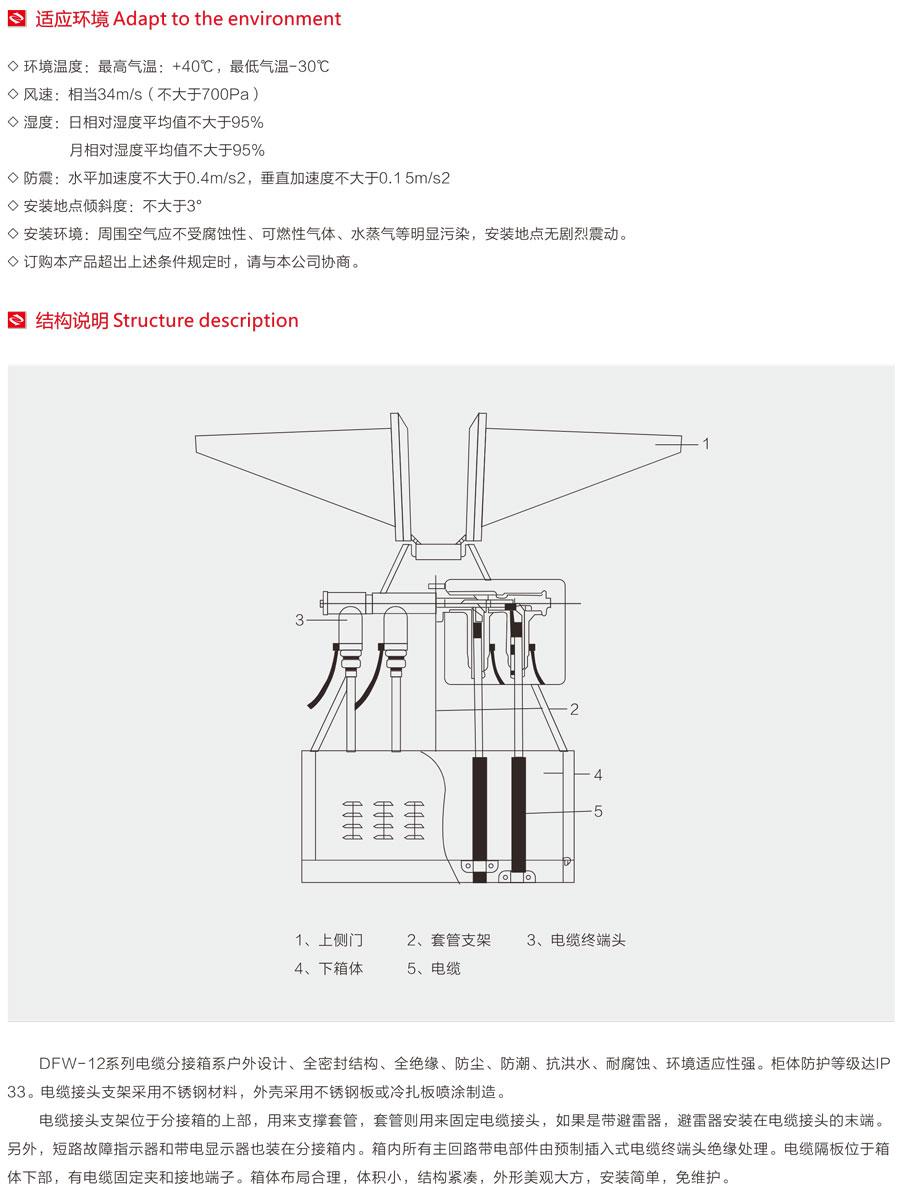 欧式电缆分接箱的使用环境及结构说明
