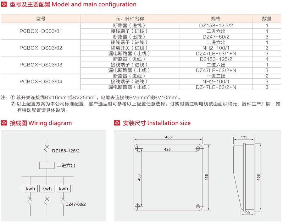 單相三表位電表箱的型號及主要配置,接線圖,安裝尺寸/> </p> </div>              </div>    <div class=