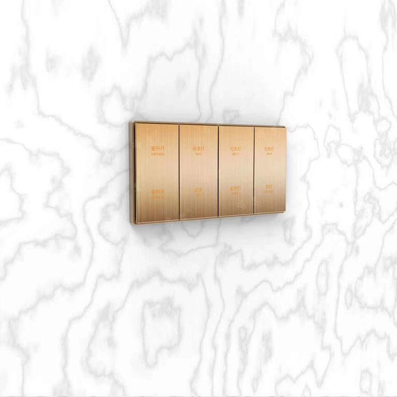 大板金色金屬按鍵兩連體