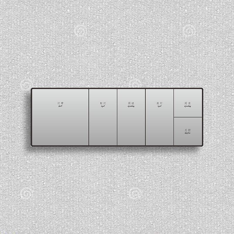大板灰色金CNC邊框三連體