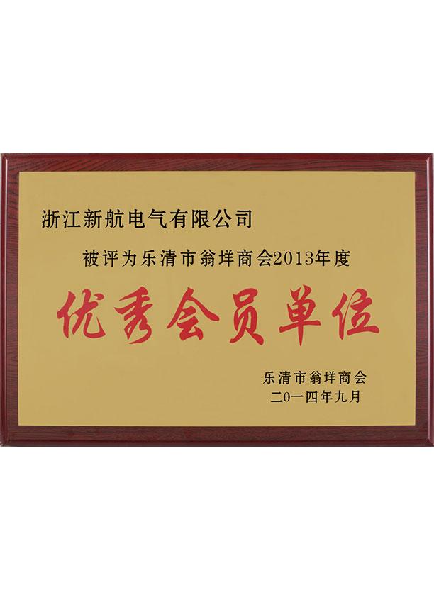 2013年度優秀會員單位
