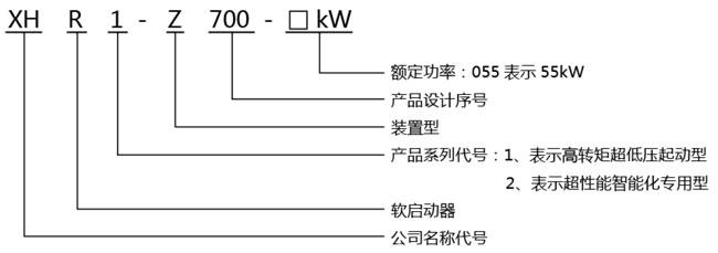 在線式軟啟動器型號說明