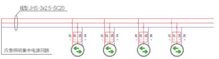 A型应急标志灯具接线示意图——地面标志灯