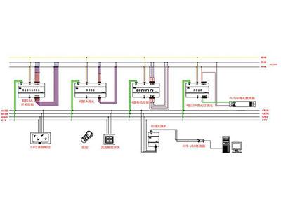智能照明系统接线图