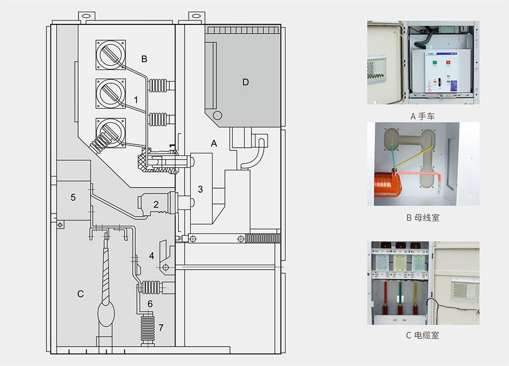 KYN550-12户内铠装移开式交流金属封闭开关设备柜体