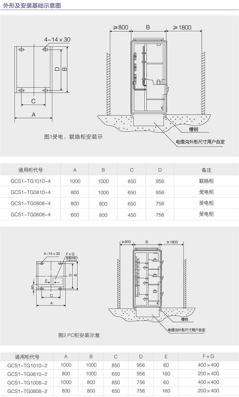 GCS低壓抽出式開關柜通用柜型號表