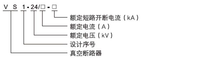 VS1-24户内高压真空断路器型号含义