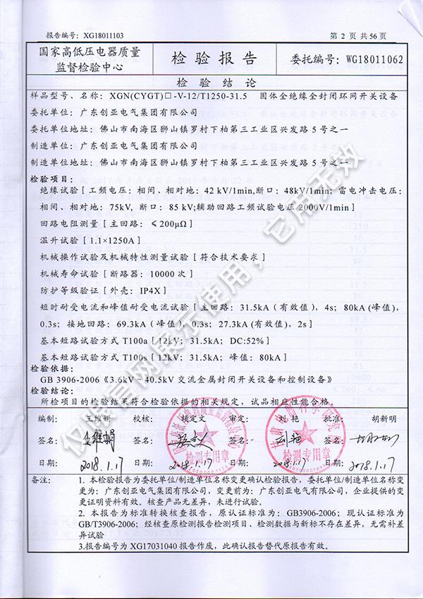 XGN(CYGT)-V-12T1250-31.5