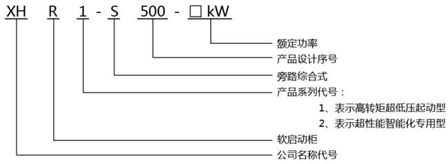 XHR1-S500旁路綜合式軟啟動柜型號說明