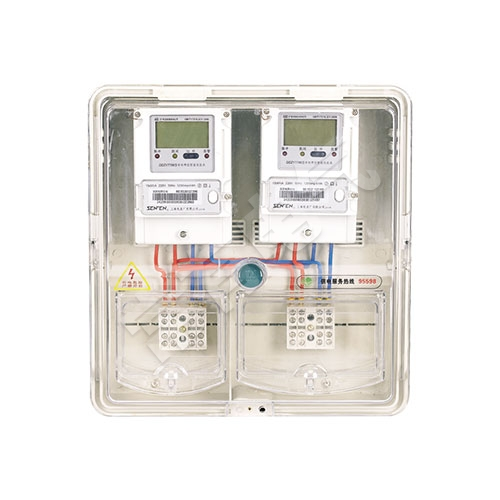 LG-PCBOX-DS02单相二表位电表箱